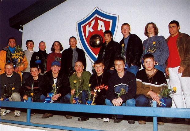 Íslandsmeistarar KA í 3. flokki A lið 1997