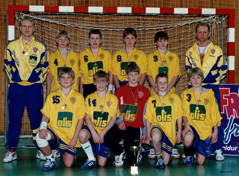 Íslandsmeistarar KA í 5. flokki B lið 1996.
