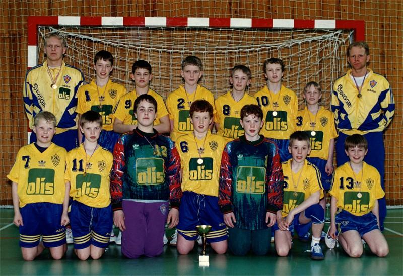 Íslandsmeistarar KA í 5. flokki C lið 1996.