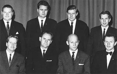 Stjórn KA á 40 ára afmælinu 1968