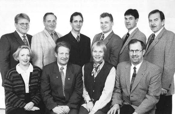 Stjórn KA á 70 ára afmælinu 1998